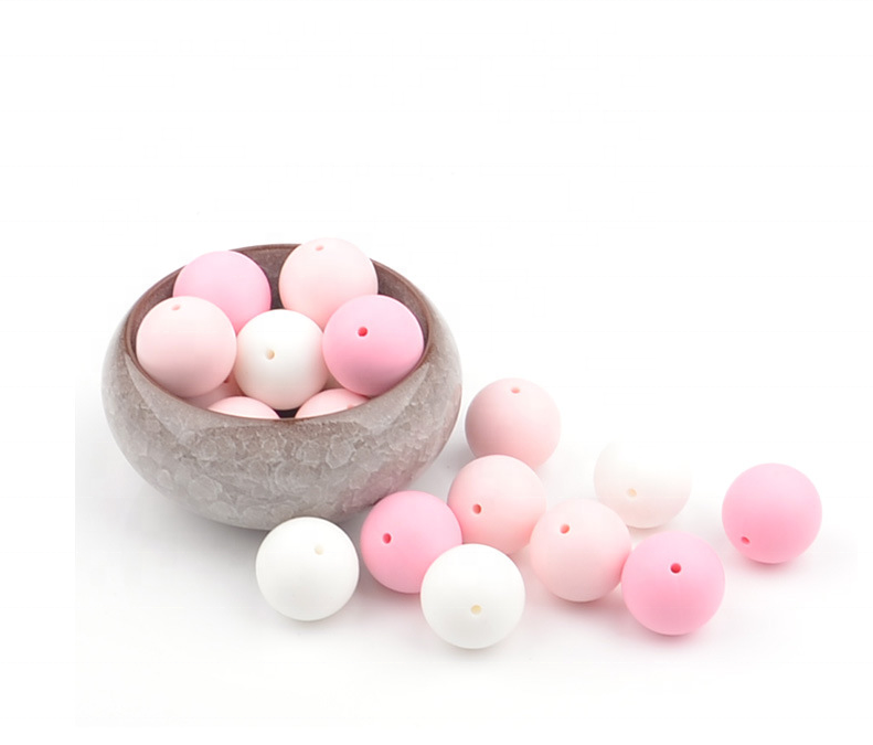 chinese supplier custom food grade silicone bead/bpa free silicone beads/bpa free food grade silicone beads