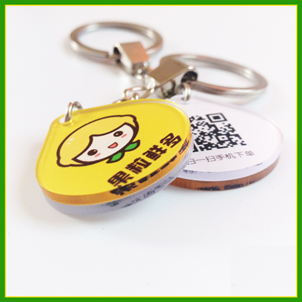 Custom Keychain Acrylic Printed Cheap Heart Colorful Acrylic Keychains