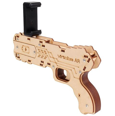 AR Augmented Reality <strong>Gun</strong> DIY Bluetooth AR Toy <strong>Gun</strong> with Cell Phone Stand Holder for iOS Android