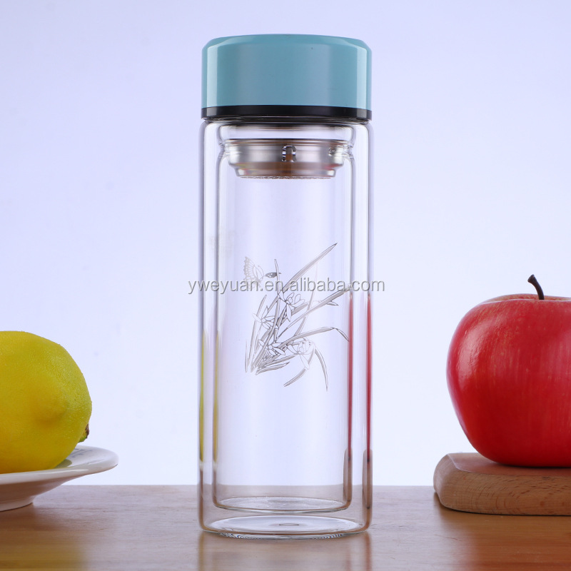 2019 New Style 500 ml 파이렉스 (pyrex) (gorilla Glass) 물 병 와 Stainless Steel 필터