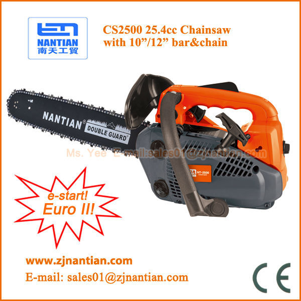 small easy portable chainsaw cs2500 25.4cc with 10 12 inch bar