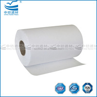 Best seller with 95% efficiency F8 fiberglass filter paper for mini pleated packs