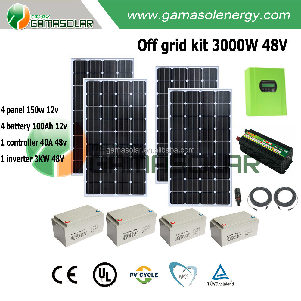 China Cheap Price Grid Tie 1000w Home Solar System For