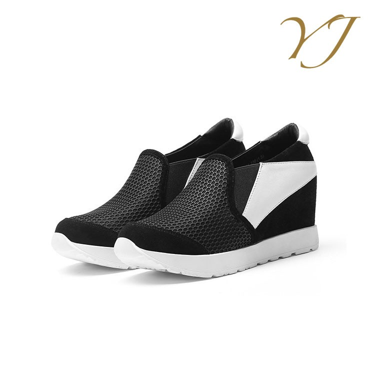 sports mesh height shoes fashion leather genuine breathable design increasing new girls 2017 xFT4qzvwnO