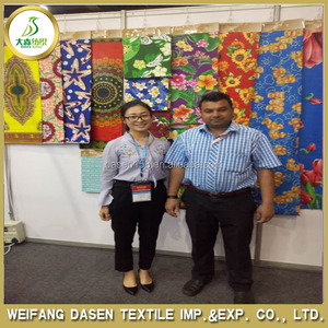 weifang factory printed fabric to any designs