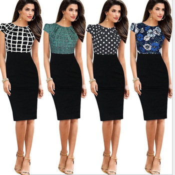 fb71122be103e Z91652A Contrast business woman dress formal ladies office wear dresses  dress
