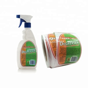 Custom Full Color Printing Cleaning Bottle Packaging 500ml Bottle Labels