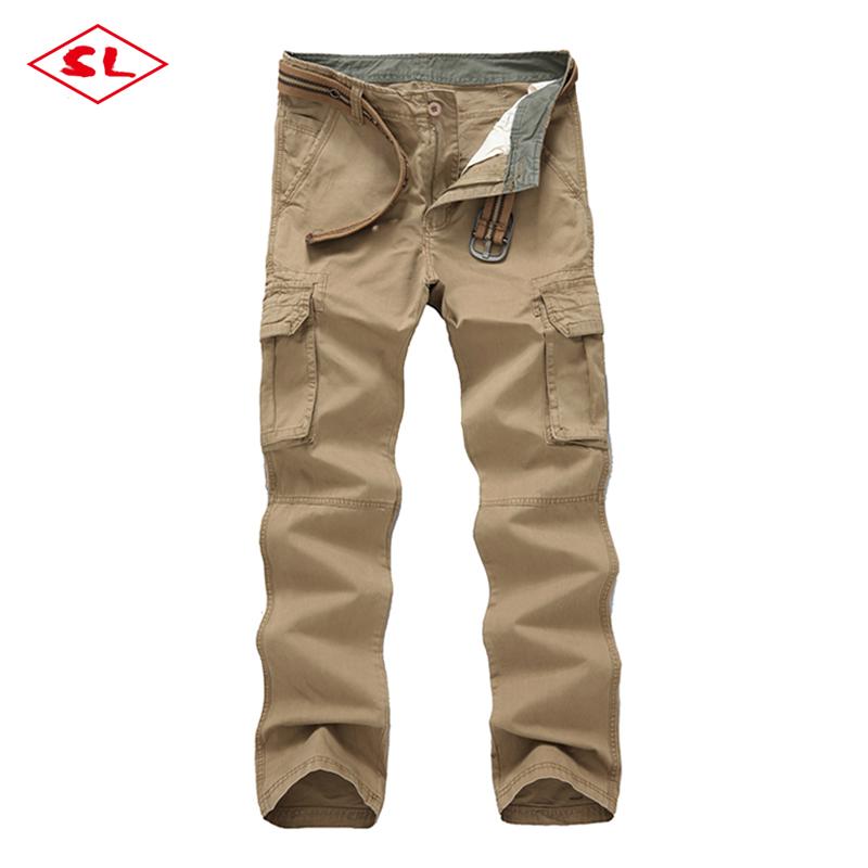 de bolsillos 100 tejido color pantalones algodón sólido carga 6 mens aq4Uq8