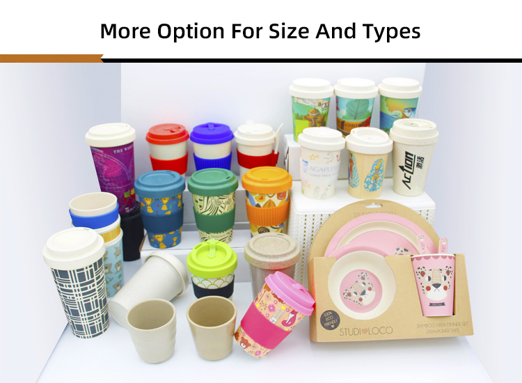 200ml Eco Mug Coffee Cup Natural RICE HUSK Fibre coffee Cup Travel Mug Rice Straw Cup
