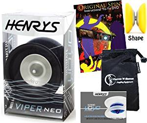 Pro YoYos For Kids and Adults! Professional Ball Bearing YoYo +Instructional Booklet of Tricks /& Travel Bag Henrys VIPER YoYo Red