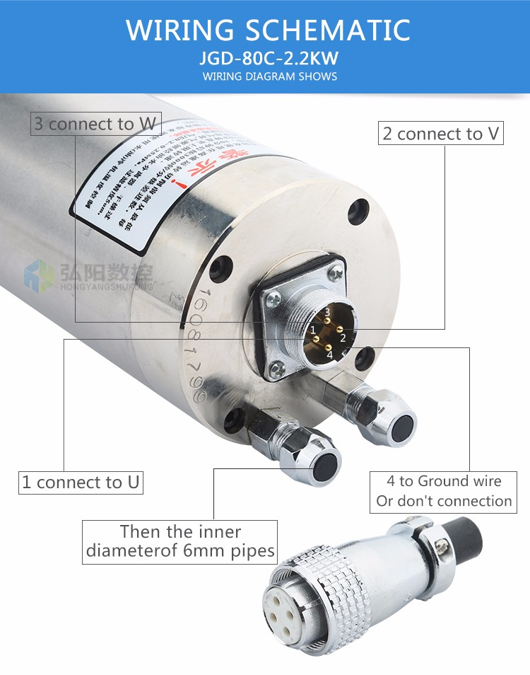 Good Quality Hycnc 2.2kw Cnc Spindle Motor - Buy 2.2kw Cnc Spindle ...