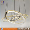 high brightness SMD stainless steel led modern crystal chandelier lighting