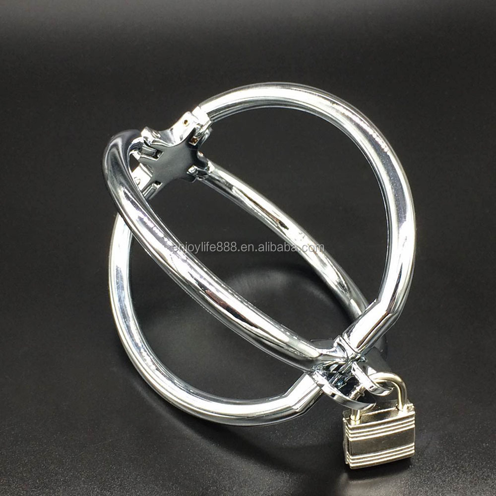 Wholesale Smooth Kirsite Alloy Metal four paws handcuffs bondage sex toys, Watermelon shape Adult restraint steel wrist cuffs