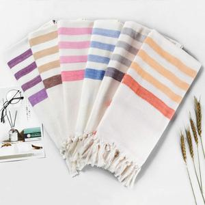 Factory Directly Customized Stripe Pestemal Fouta Turkish Cotton Bath Beach Towel
