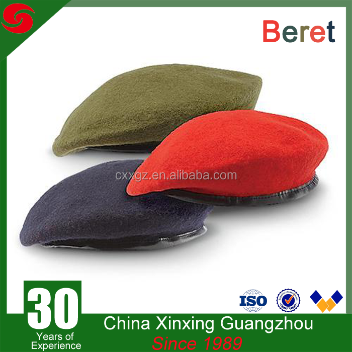Unisex 100%wool custom military beret police office army beret cap