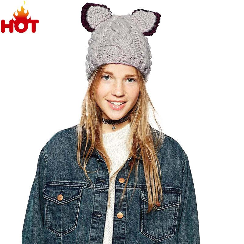 8df3785584176 Men Women Beanie Hat 2015 Autumn Winter Knitting Wool Hat for Unisex Caps  Lady Beanie Knitted Caps 1531