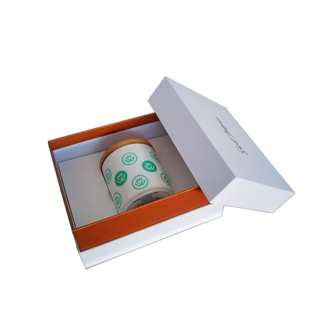 luxury custom white large candle christmas gift box