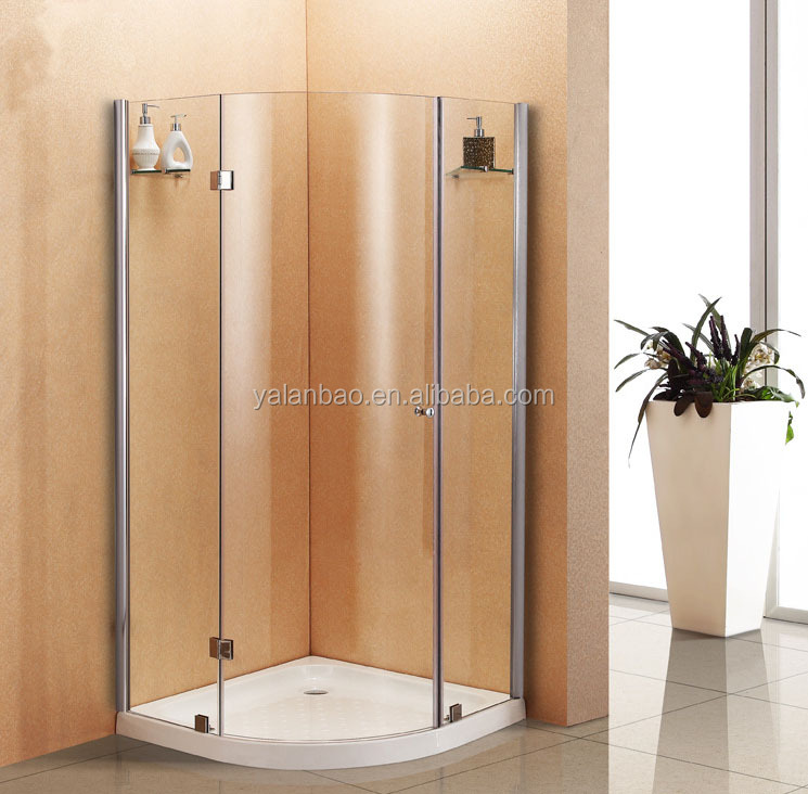 Portable Shower Base : Hot sale portable curved shower base acrylic tray