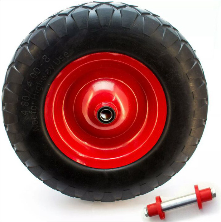 China True Value Factory polyurethane Flat free PU Foam filled wheel and tire for wheelbarrow