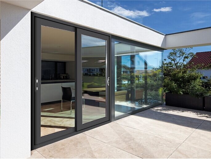 CSA NFRC AS2047 standard aluminium interior internal side stacking sliding stacking doors