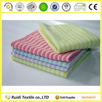 Microfiber Cleaning Cloth With Stripe,Bath Towel,Ideal For Drying Hair Removing Make-up