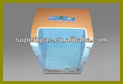 high quality color box with big PET window in shenzhen