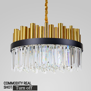 modern lighting fixtures chandeliers with crystal for hotel bedroom cafe restaurant decor ETL86084