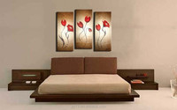 factory directly offer handmade 3 pcs panel canvas oil painting on canvas