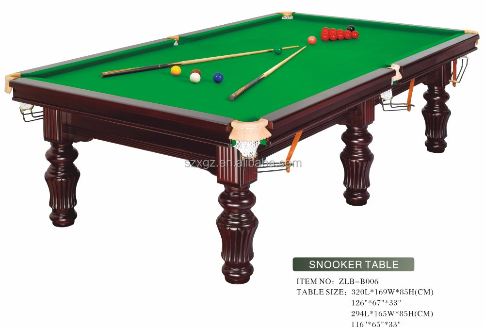 Solid Wood Slate Standard Size Snooker Pool Table Price For Wholesale 2017