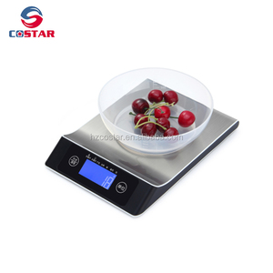 Stainless steel 5000g max d 1g digital kitchen scale home scale manual kitchen weighing scale portable