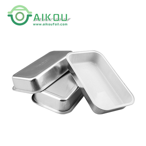 High quality microwavable disposable aluminum foil airline food trays