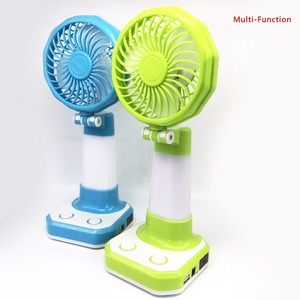 Newest design flame light 360 degree rotation cooling USB rechargeable mini table fan with light