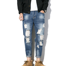 Hoge kwaliteit lage MOQ groothandel slim fit fashion cut up jeans <span class=keywords><strong>denim</strong></span> ripped jeans