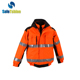 high visibility fluo yellow orange children reflective logo fashionable sport pants gym red safety vest with zipper