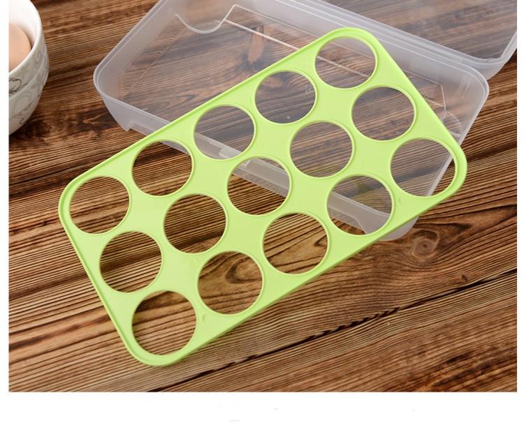 Huis Keuken Clear Plastic Opslag 2 Lagen Koelkast ei lade