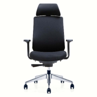 PU Leather Swivel Executive Ergonomic Office Mesh Chair Revolving Executive Staff Office Chair
