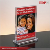 5x7 Acrylic Picture Frame, Acrylic Table Tents for Bar and Restaurant Clear PMMA