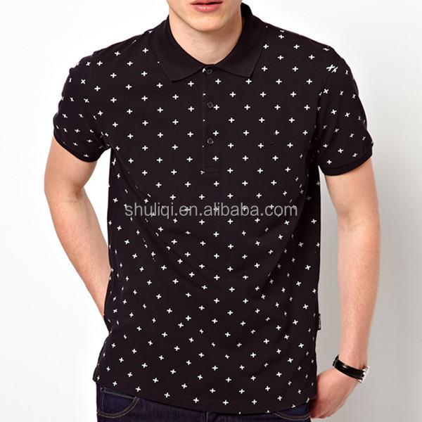 All over printing stylish man polo preshrink cotton for All over shirt printing