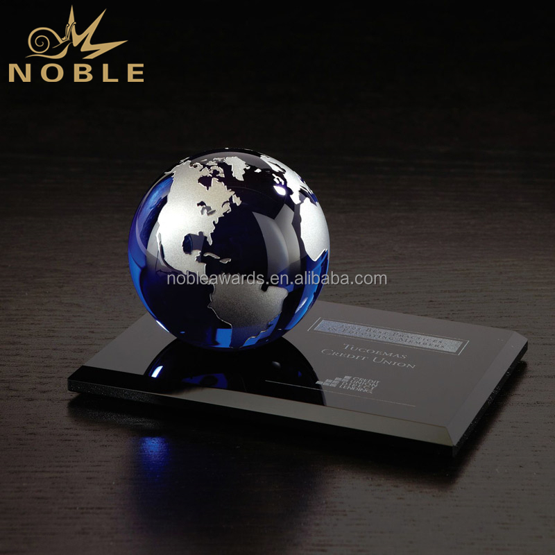 Graduation Gifts Galaxy Award Trophy Blue Crystal Globe Ball Gifts