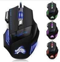 China gaming mouse suppliers gamer wired led light professional gaming mouse usb wired 7d programmable buttons mouse