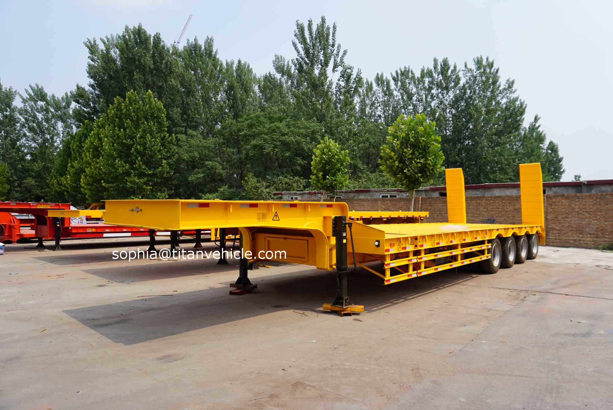 What is the FOB price on your commercial low bed trailer drop deck extendable trailers for sale
