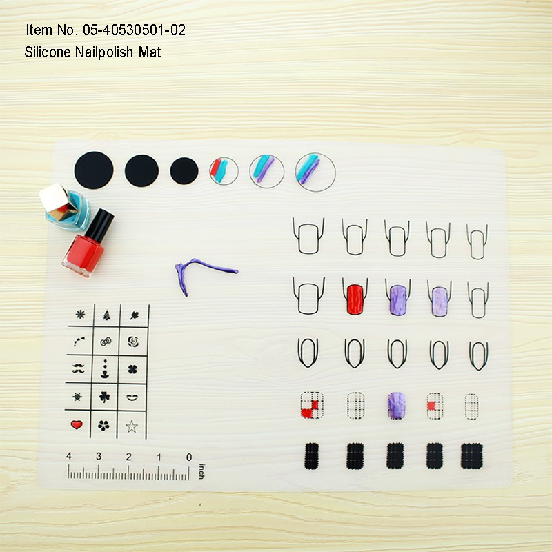 Convenient Promotiona Square Clearsoft Silicone Nail Art Mat ...