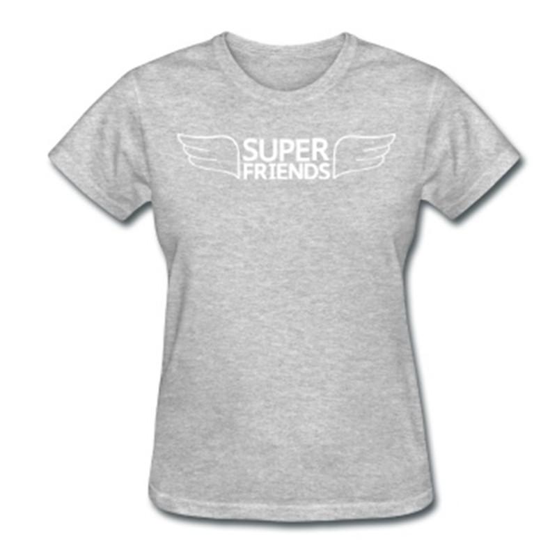 ce0d81539a4e5 Get Quotations · Digital Printed Hot sale Women Tshirt Super Friends Logo  Cotton Unique Custom T-shirt Printed
