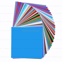 "Permanent Adhesive Backed Vinyl Sheets 12"" x 12"" -80 Sheets Assorted Colors Works With Cricut and Other Cutters"