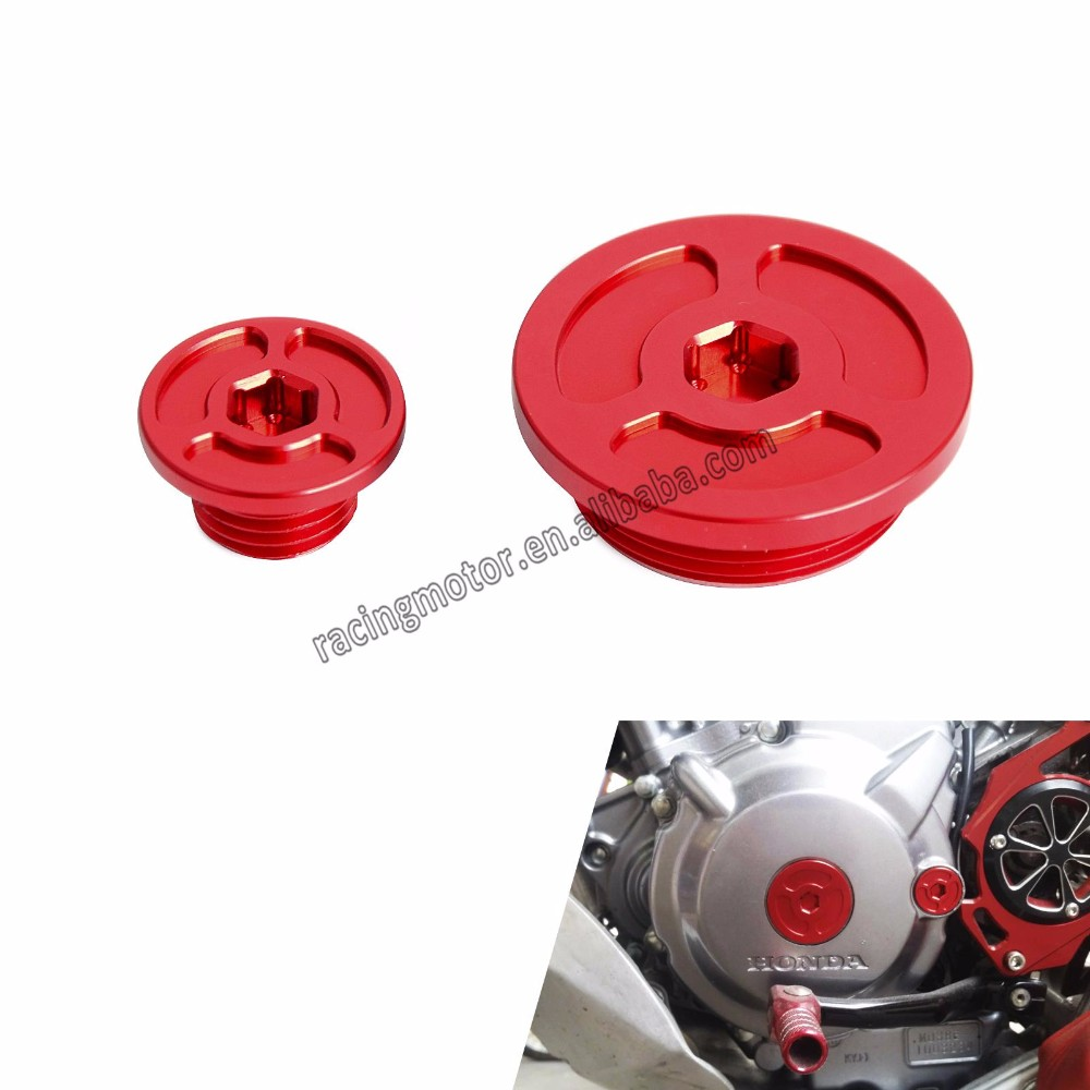 Cnc Billet Red Engine Timing Plugs Bolts For Honda Crf250l