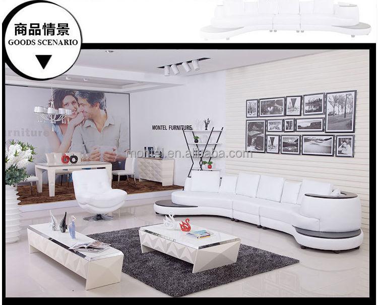 Moderno Sofá De Cuero Blanco Muebles Ashley - Buy Sofá,Sofá De Cuero ...