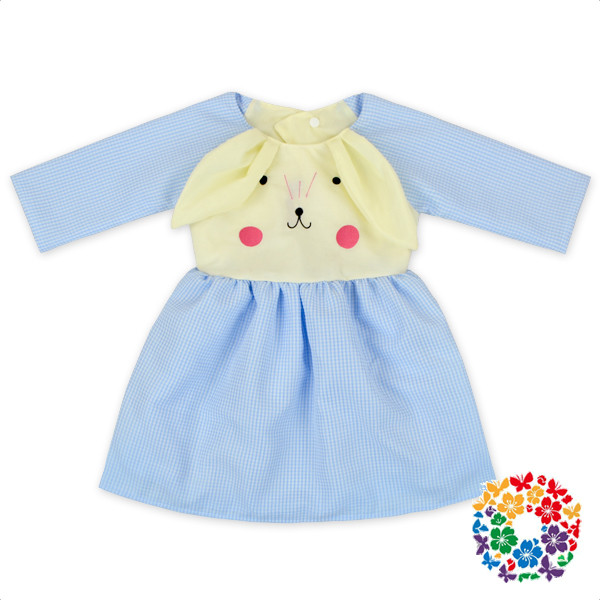 2017 Easter Day Baby Girls Dress Cute Rabbit Print Dresses Cotton & Polyester Baby Dress