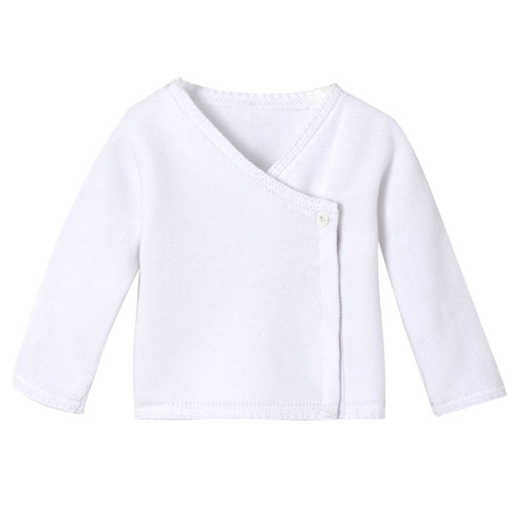 Fashion warm promotion childrens handmade crocheted knitted plain white sweater