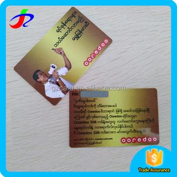 Customized Rechargeable Prepaid Telecom Telephone Plastic Pvc ...