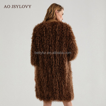 Factory wholesale dyed knitting sheep winter fur coats